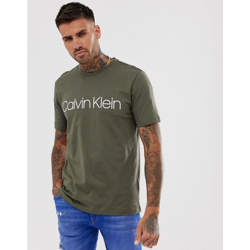 カルバンクライン Calvin Klein メンズ トップス Tシャツ【logo t-shirt in olive】Olive