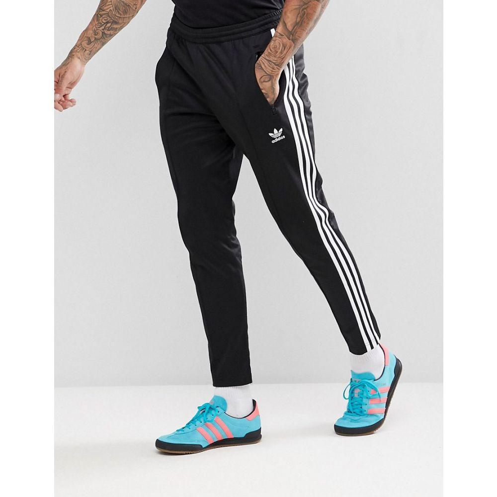 アディダス メンズ ボトムス・パンツ ジョガーパンツ【adidas Originals adicolor Beckenbauer Joggers In Skinny Fit In Black CW1269】Black