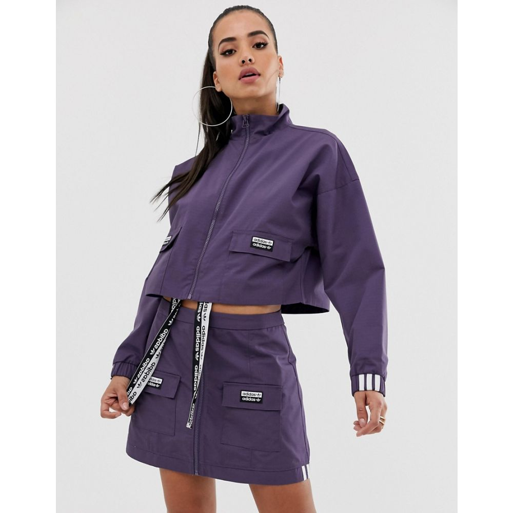 アディダス adidas Originals レディース アウター ジャケット【RYV patch pocket cropped jacket in purple】Trace purple