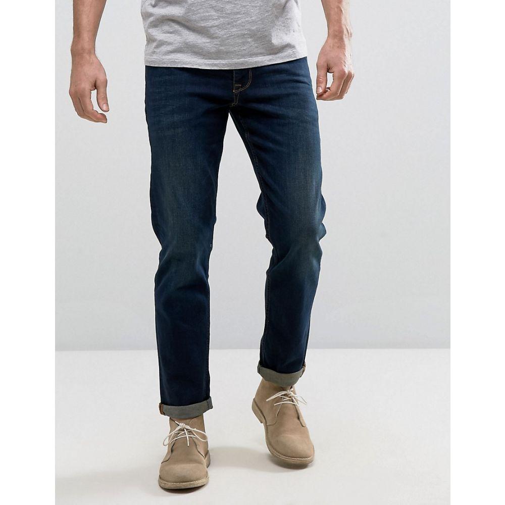 エイソス ASOS DESIGN メンズ ボトムス・パンツ ジーンズ・デニム【stretch slim jeans in dark wash】Blue