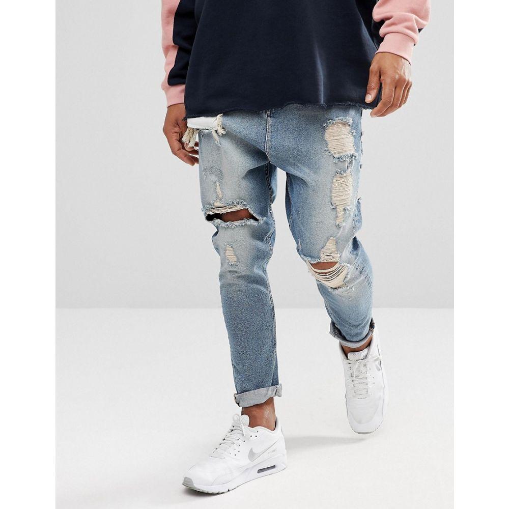 エイソス ASOS DESIGN メンズ ボトムス・パンツ ジーンズ・デニム【drop crotch jeans in vint