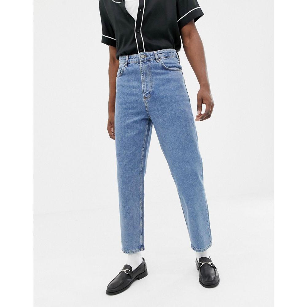 エイソス ASOS DESIGN メンズ ボトムス・パンツ ジーンズ・デニム【high waisted jeans in vintage mid wash blue】Mid wash vintage