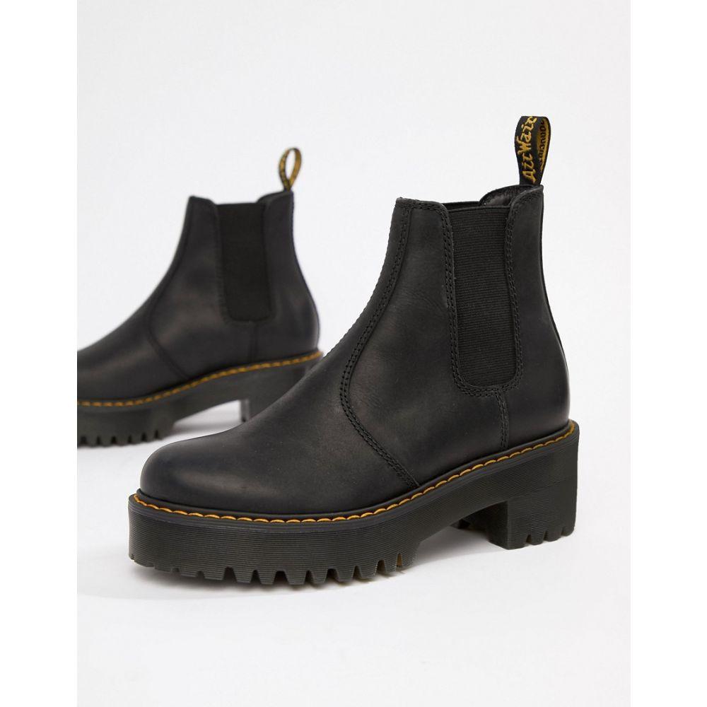【オープニング 大放出セール】 ドクターマーチン Dr Martens レディース シューズ・靴 ブーツ【Rometty Black Leather Heeled Chelsea Boots】Black, サングラス専門店 サイクロプス a7e4262b