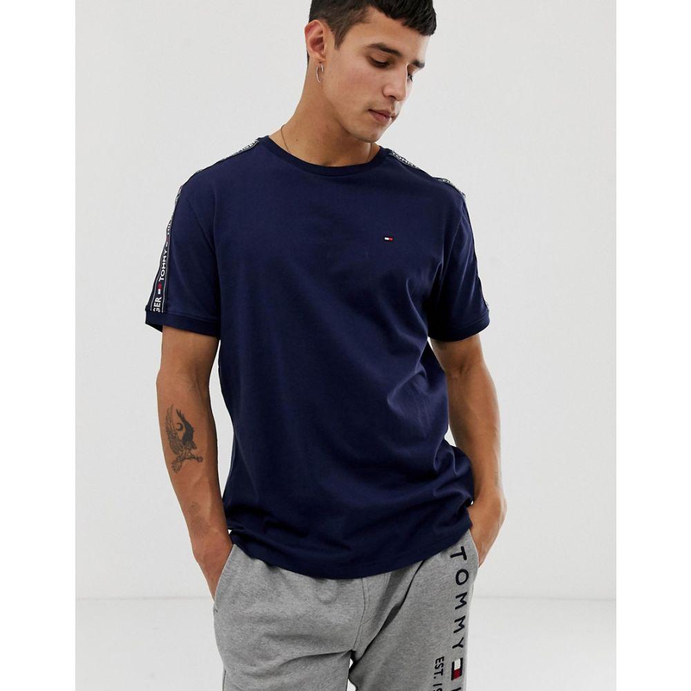 トミー ヒルフィガー Tommy Hilfiger メンズ トップス Tシャツ【authentic t-shirt side logo taping in navy】Navy