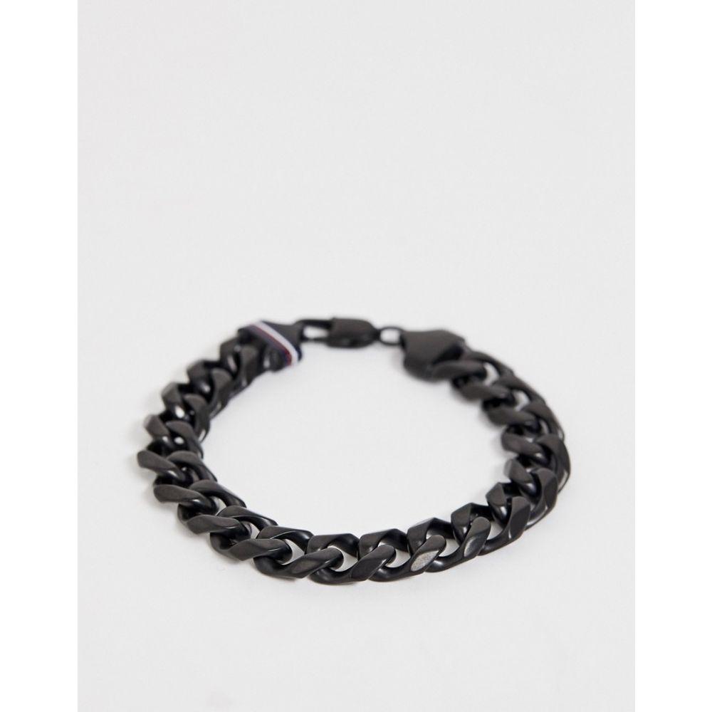 トミー ヒルフィガー Tommy Hilfiger メンズ ジュエリー・アクセサリー ブレスレット【chain link bracelet in black】Black