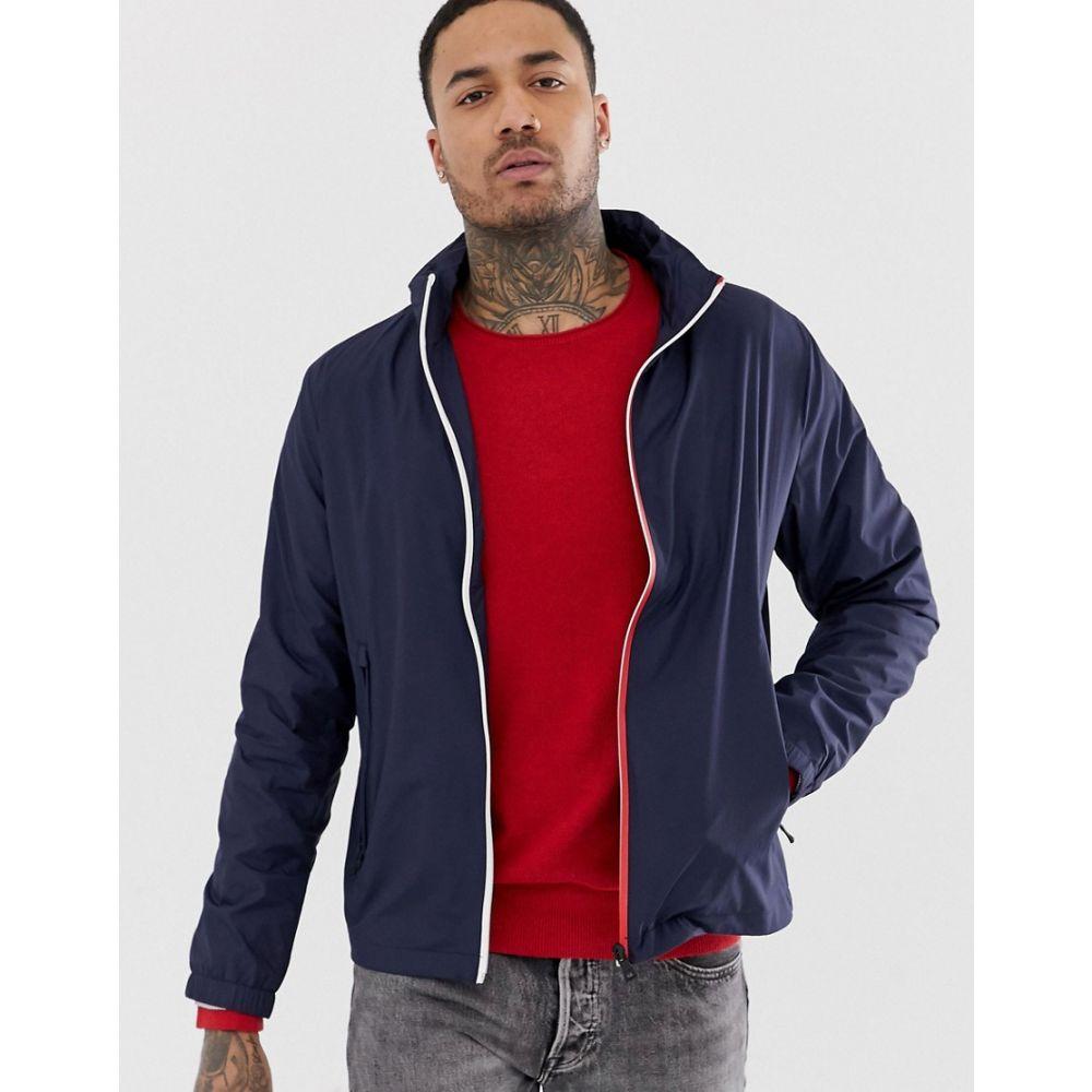 トミー ヒルフィガー Tommy Hilfiger メンズ アウター ジャケット【red white zip through jacket】Blue