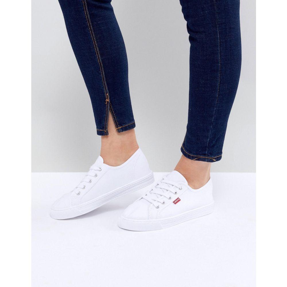 リーバイス Levis レディース シューズ・靴【Levi's canvas shoe with red tab】White