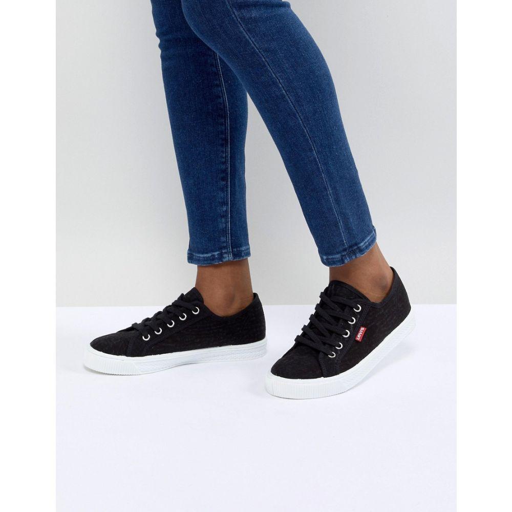 リーバイス Levis レディース シューズ・靴【Levi's canvas shoe with red tab】Black