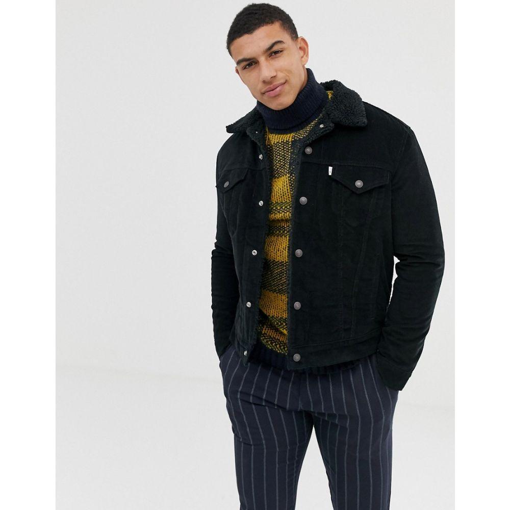 リーバイス Levis メンズ アウター ジャケット【Levi's cord borg trucker jacket in black】Black cord better