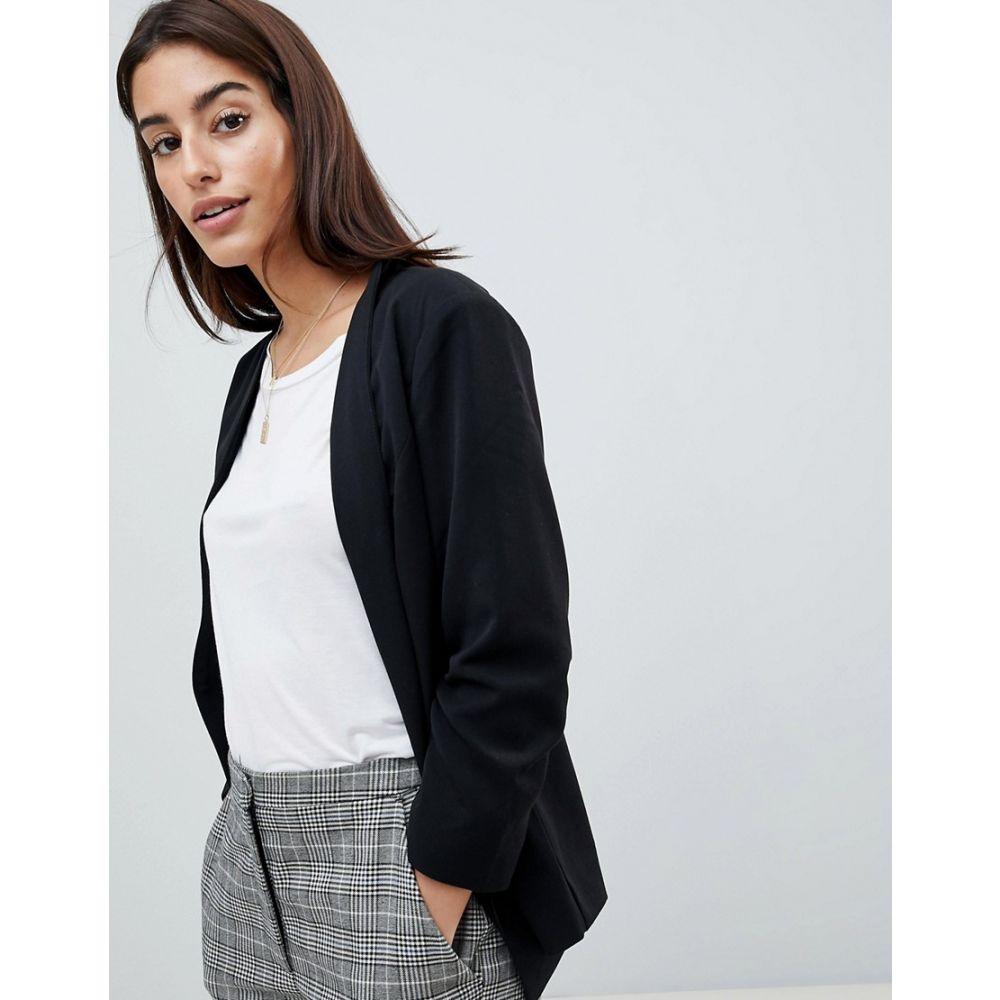 ヴィラ Vila レディース アウター スーツ・ジャケット【Ruched Sleeve Blazer】Black