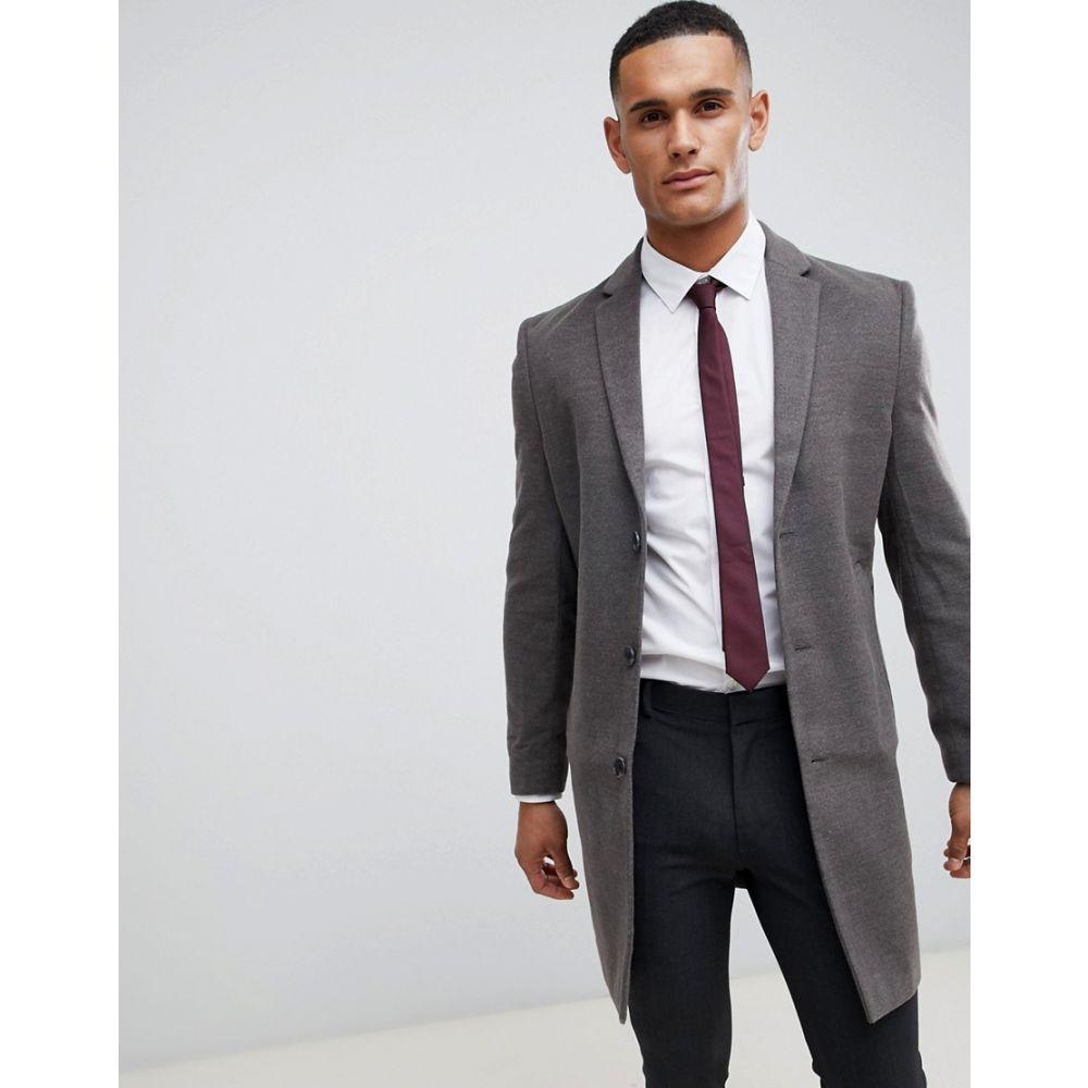 ニュールック New Look メンズ アウター コート【smart overcoat in grey】Mid grey