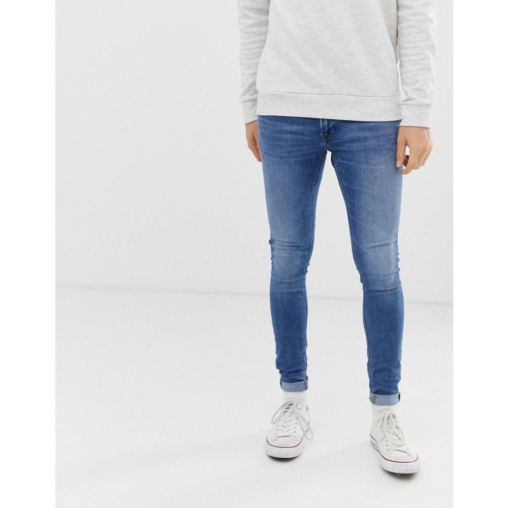 ジャック アンド ジョーンズ Jack & Jones メンズ ボトムス・パンツ ジーンズ・デニム【spray on skinny fit jeans in blue】Blue denim