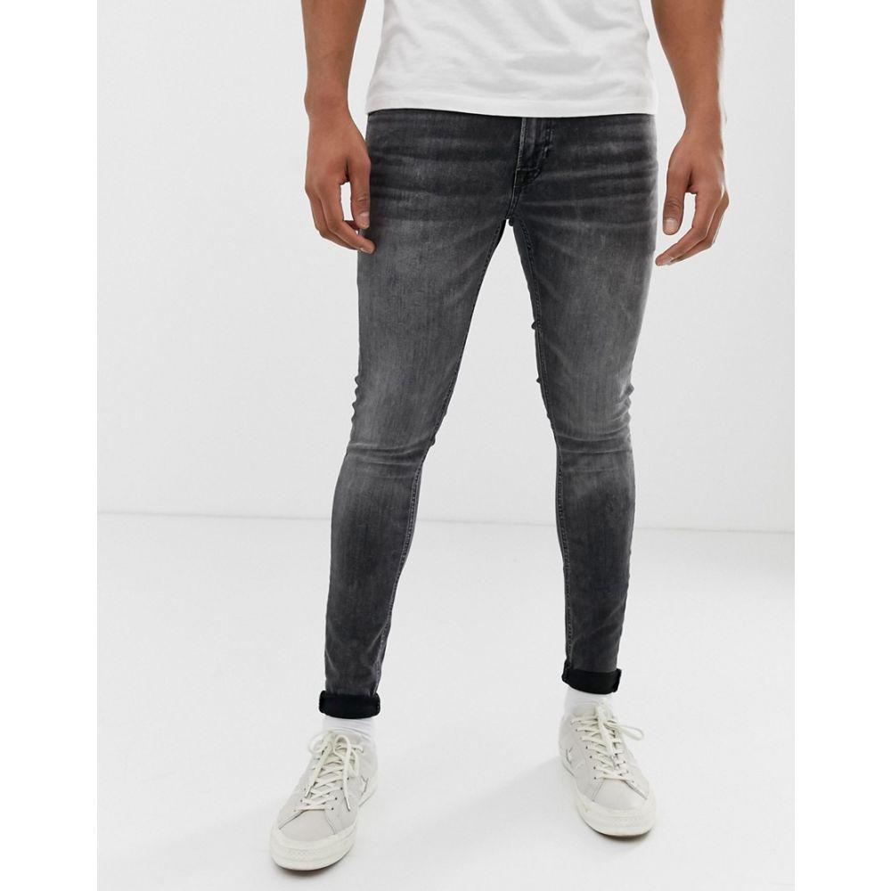 ジャック アンド ジョーンズ Jack & Jones メンズ ボトムス・パンツ ジーンズ・デニム【skinny fit jeans in washed black】Black denim
