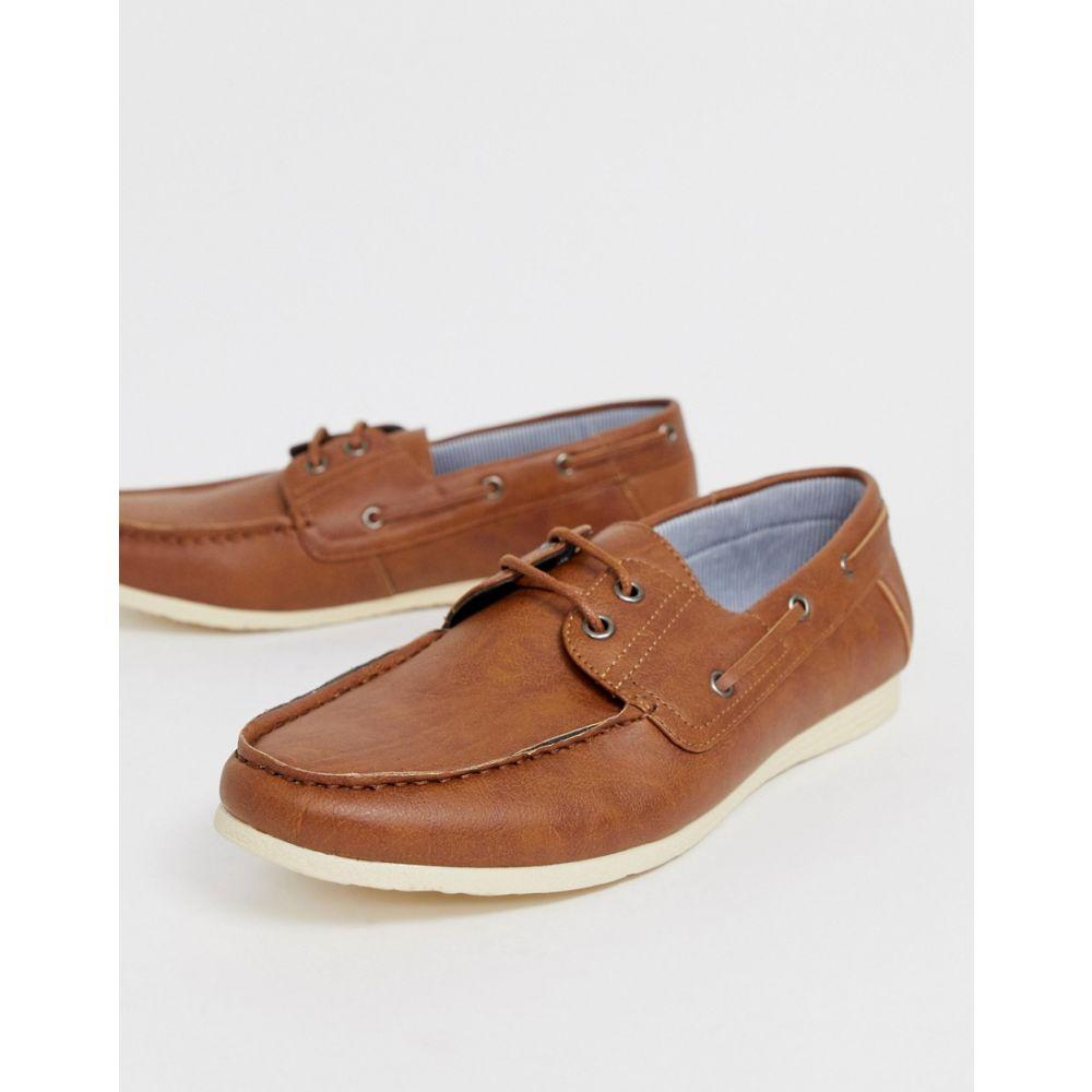 ニュールック New Look メンズ シューズ・靴 デッキシューズ【faux leather boat shoes in tan】Tan