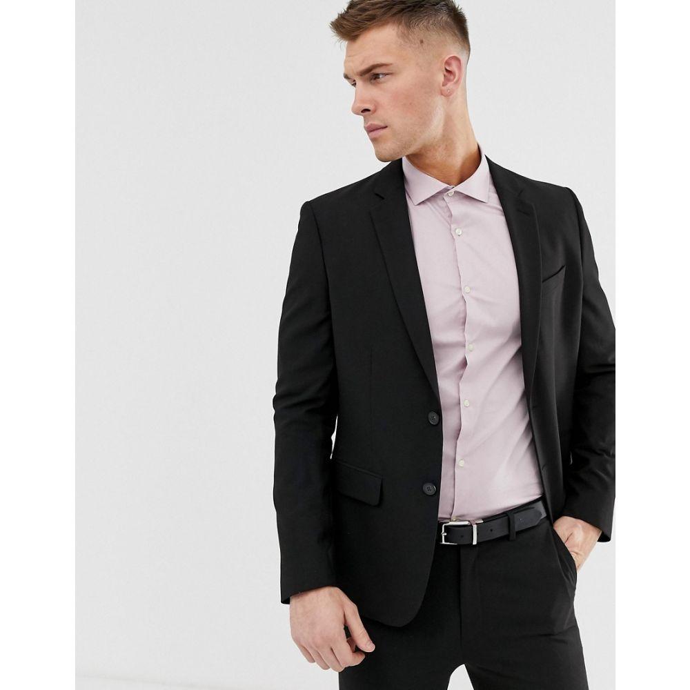 ニュールック New Look メンズ アウター スーツ・ジャケット【skinny suit jacket in black】Black