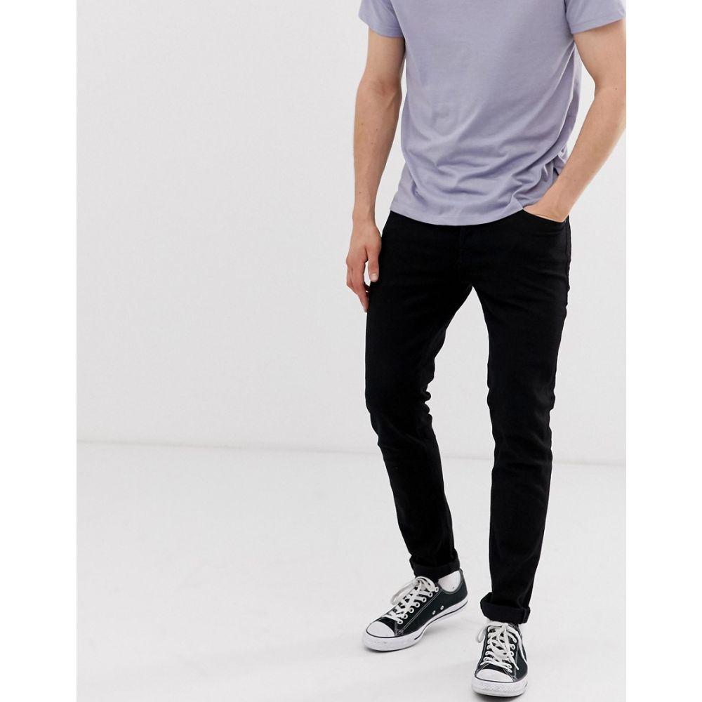 ジャック アンド ジョーンズ Jack & Jones メンズ ボトムス・パンツ ジーンズ・デニム【Intelligence tapered slim fit jeans in black】Black denim