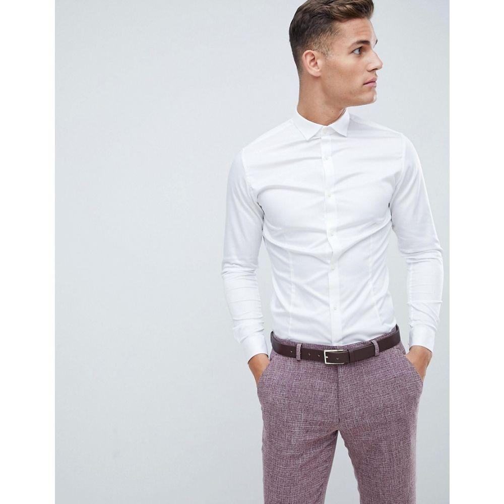 ジャックアンドジョーンズ メンズ トップス カジュアルシャツ【Jack & Jones Premium Stretch Shirt in Slim Fit】White