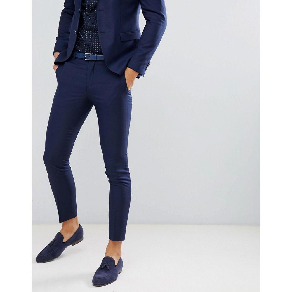 ジャック アンド ジョーンズ Jack & Jones メンズ ボトムス・パンツ スラックス【Premium suit trouser in super slim fit navy】Dark navy