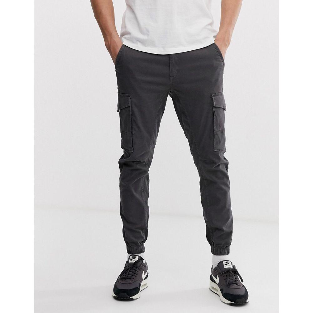 ジャック アンド ジョーンズ Jack & Jones メンズ ボトムス・パンツ カーゴパンツ【cuffed cargo trouser in grey】Grey
