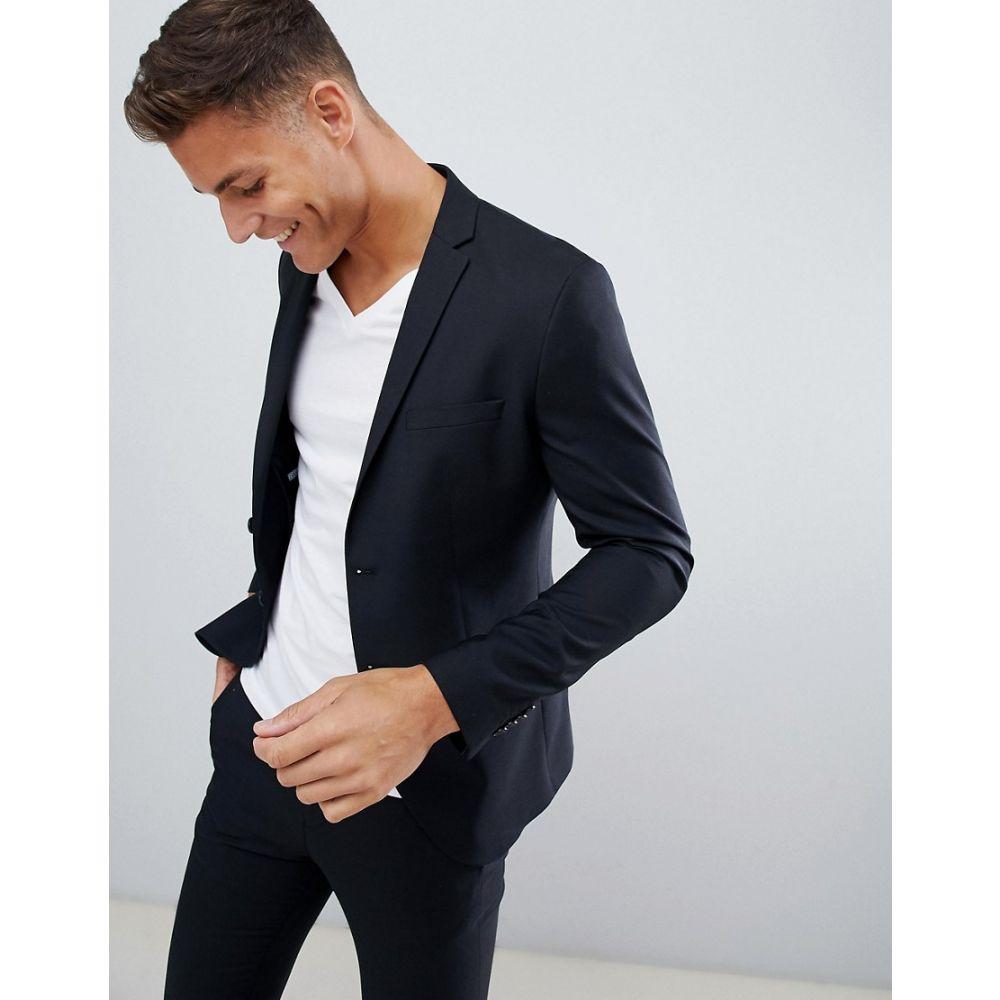 ジャック アンド ジョーンズ Jack & Jones メンズ アウター スーツ・ジャケット【Premium suit jacket in slim fit black】Black