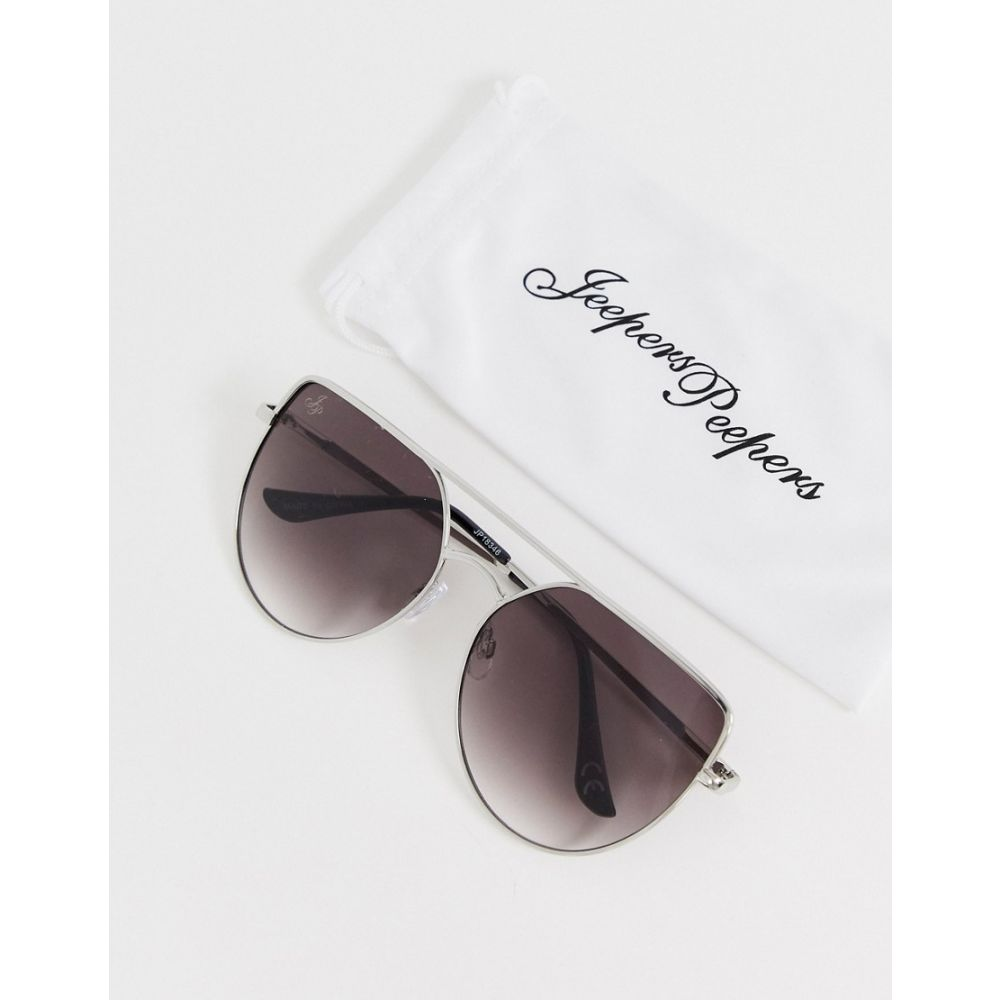Jeepers Peepers ピーパーズ レディース Silver メガネ・サングラス ジーパーズ 【flatbrow sunglasses in silver】