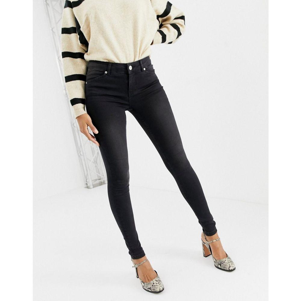 オアシス Oasis レディース ボトムス・パンツ ジーンズ・デニム【mid-rise skinny jeans in washed black wash】Black