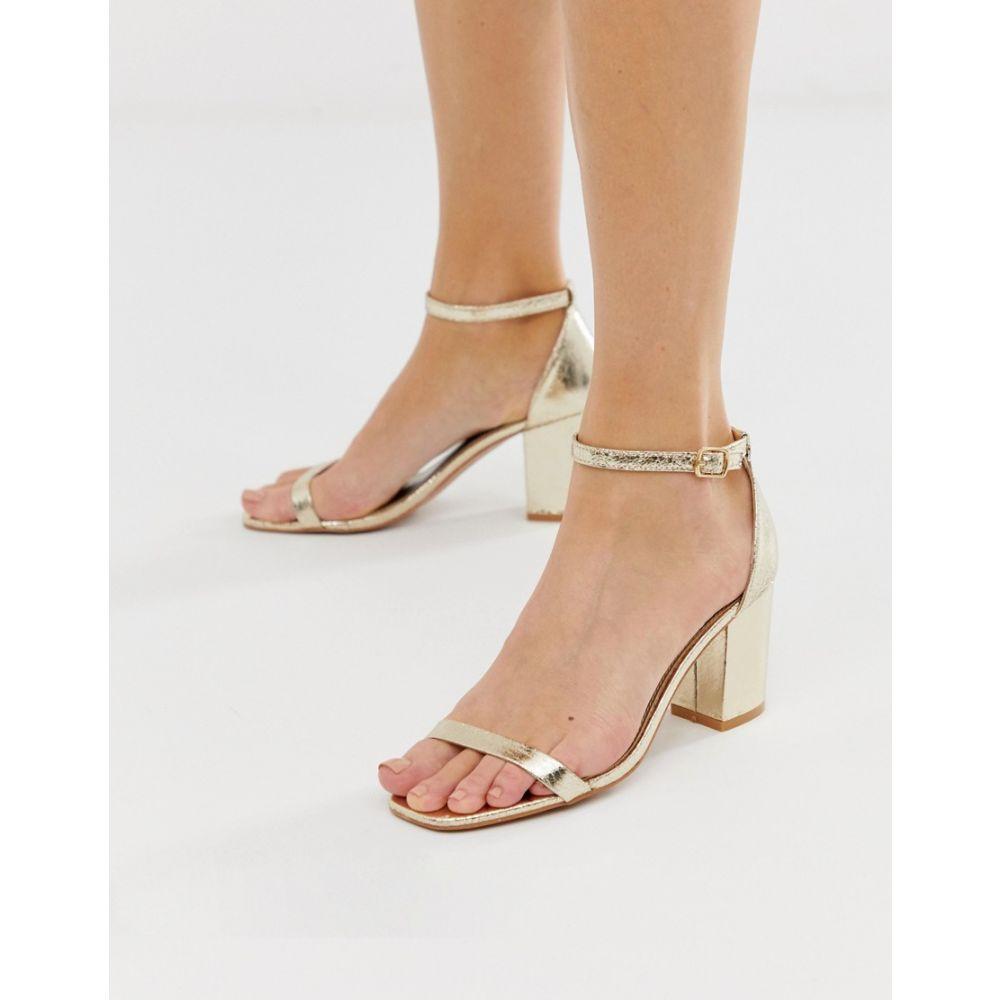 グラマラス Glamorous レディース シューズ・靴 サンダル・ミュール【Gold Block Heel Sandals】Gold