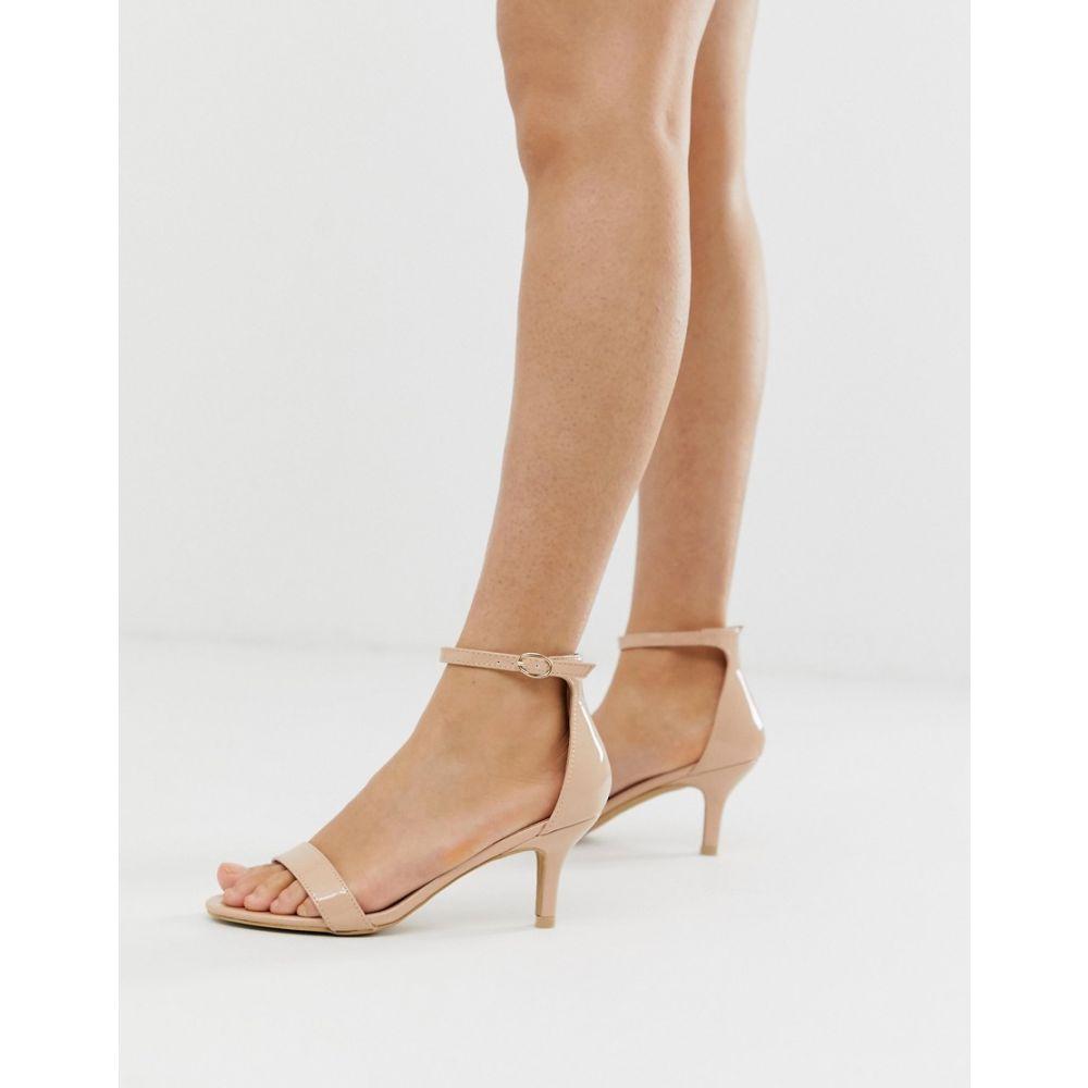 グラマラス Glamorous レディース シューズ・靴 サンダル・ミュール【blush barely there kitten heeled sandals】Beige patent