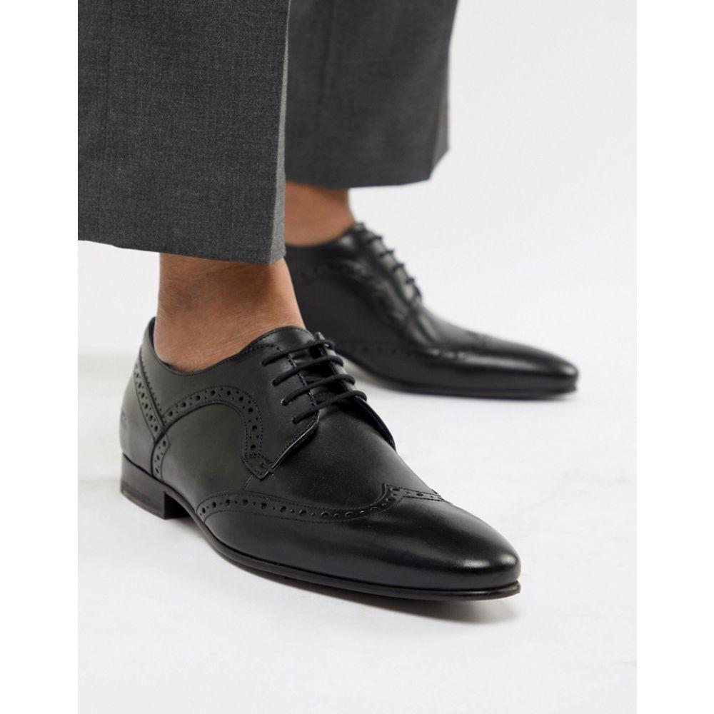 テッドベーカー メンズ シューズ・靴 革靴・ビジネスシューズ【Ollivur Leather Brogue Shoes In Black】Black