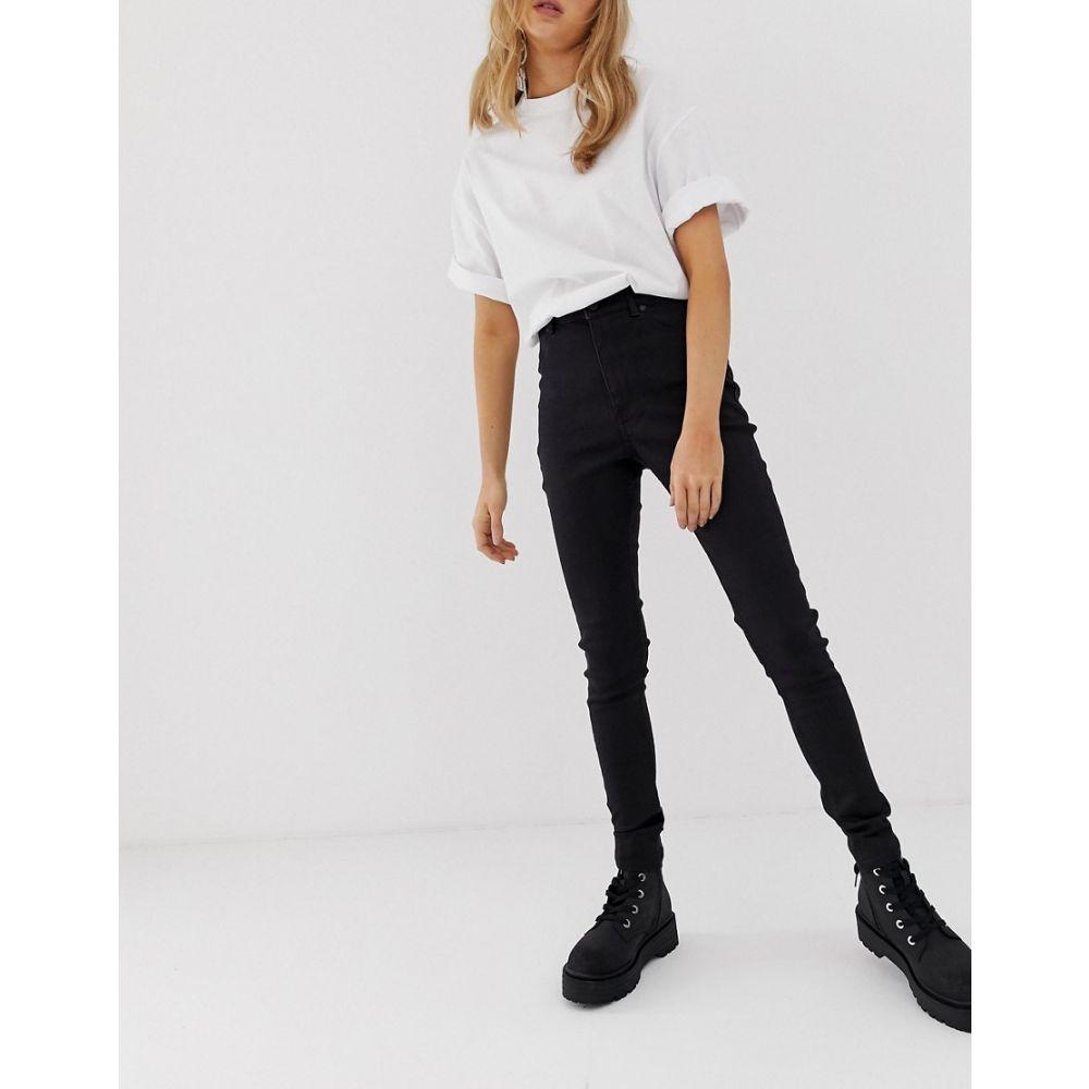 チープマンデー Cheap Monday レディース ボトムス・パンツ ジーンズ・デニム【cotton free high rise skinny jeans】Clean black