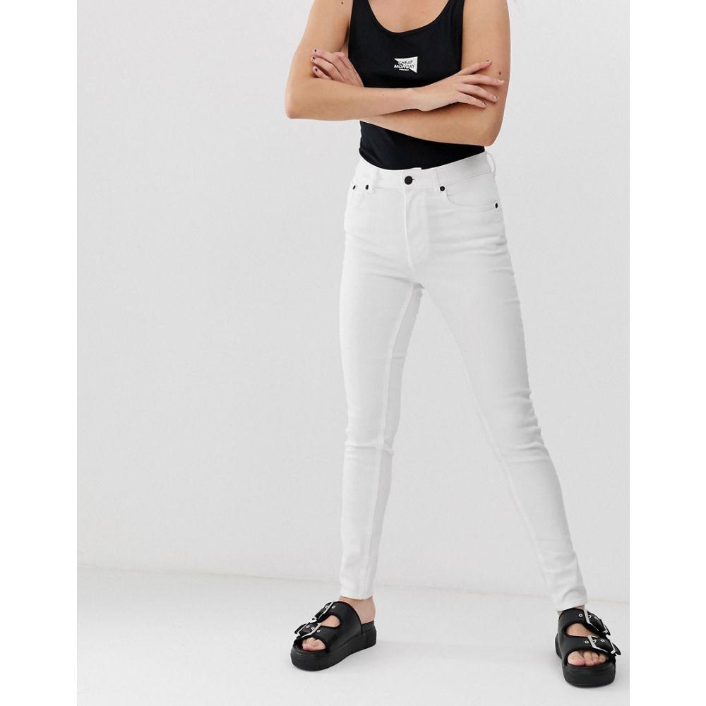 チープマンデー Cheap Monday レディース ボトムス・パンツ ジーンズ・デニム【5 pocket skinny jeans with organic cotton】White