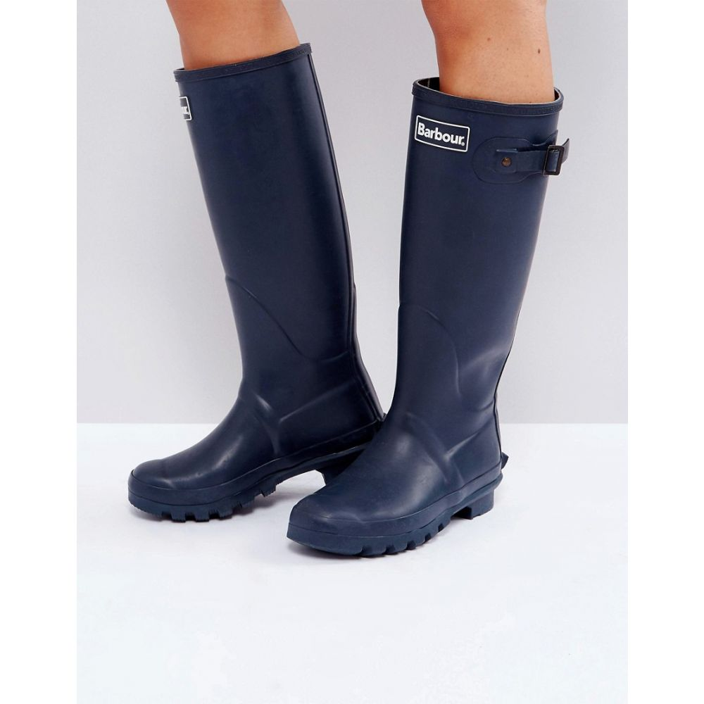 バーブァー レディース シューズ・靴 ブーツ【Barbour Bede Classic Welly Boot with Tartan Lining】Navy