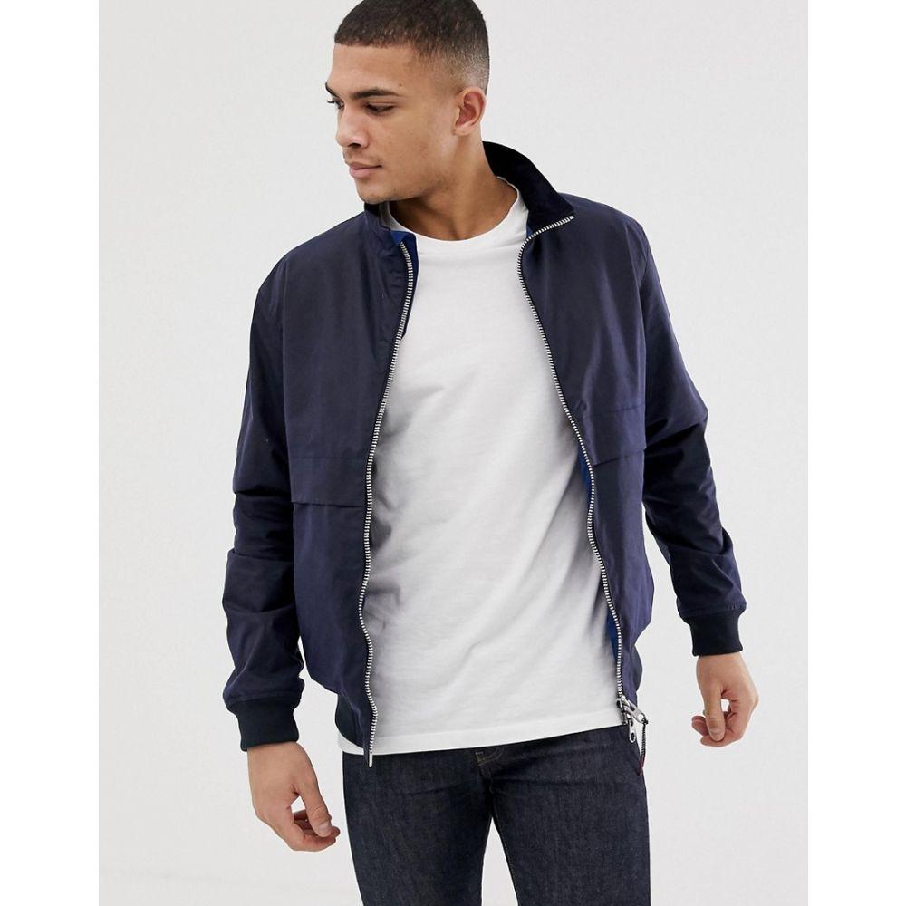 バーブァー Barbour メンズ アウター ジャケット【Rona wax zip through jacket in navy】Navy