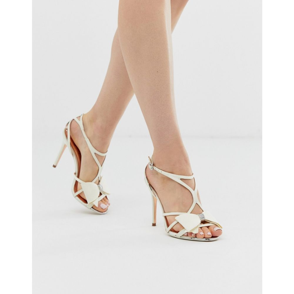 テッドベーカー Ted Baker レディース シューズ・靴 サンダル・ミュール【ivory satin bow detail heeled sandals】Ivory