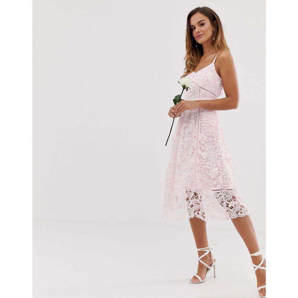 テッドベーカー Ted Baker レディース ワンピース・ドレス ワンピース【bridal premium lace midi dress】Pale pink
