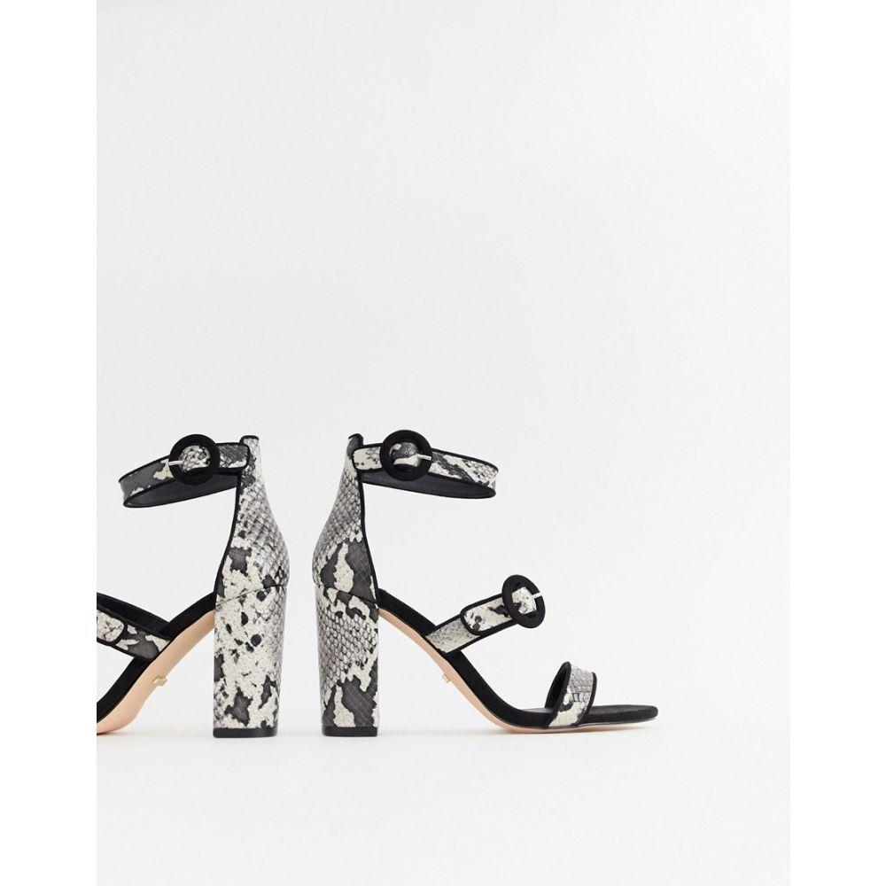 フェイス Faith レディース シューズ・靴 サンダル・ミュール【Dellar snake print block heeled sandals】Snake print