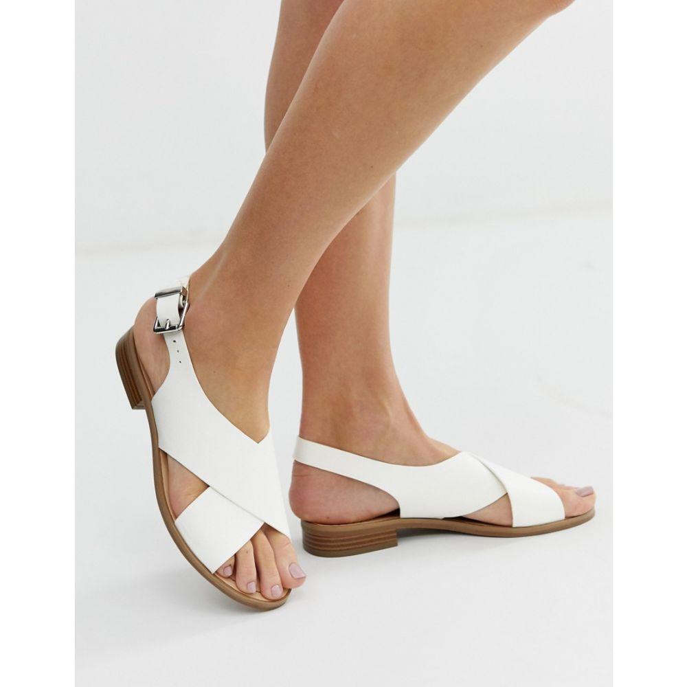 フェイス Faith レディース シューズ・靴 サンダル・ミュール【Josh white cross over sandals】White