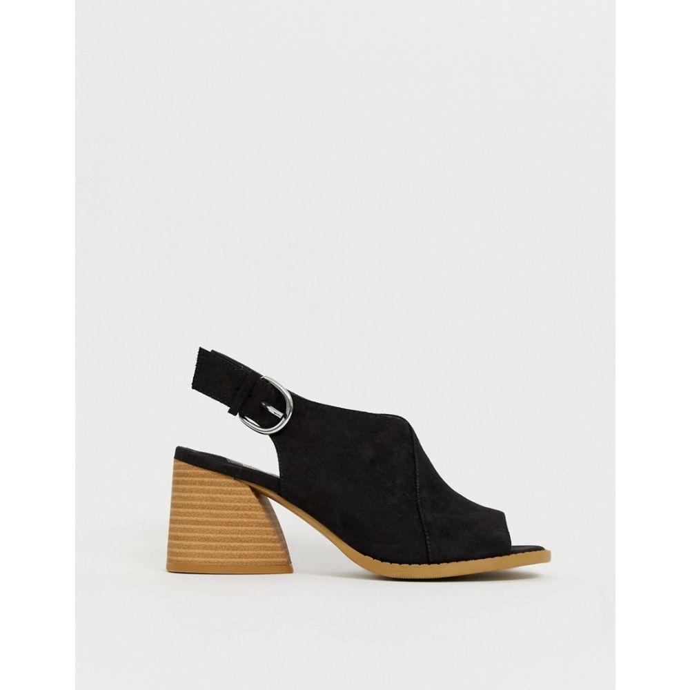 フェイス Faith レディース シューズ・靴 サンダル・ミュール【Dani black casual block heeled sling back sandals】Black