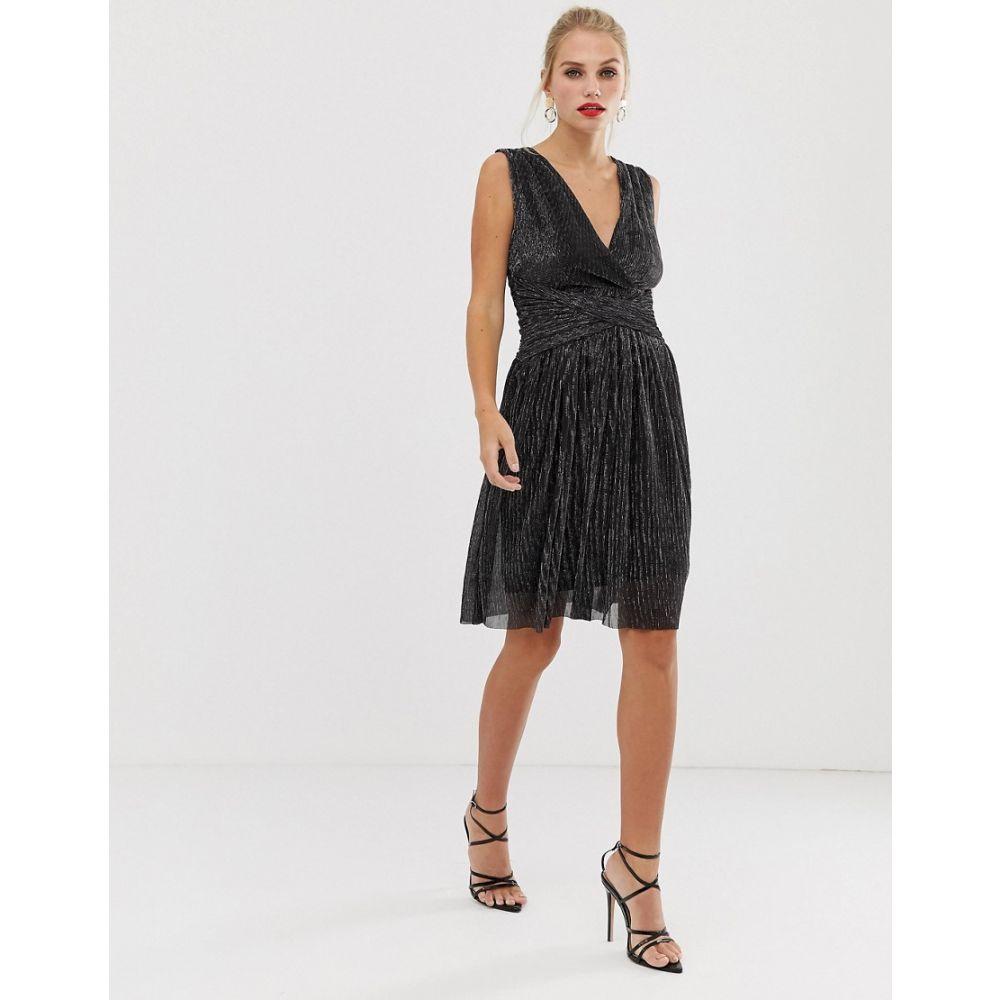 フレンチコネクション French Connection レディース ワンピース・ドレス ワンピース【Marcelle shimmer dress】Black