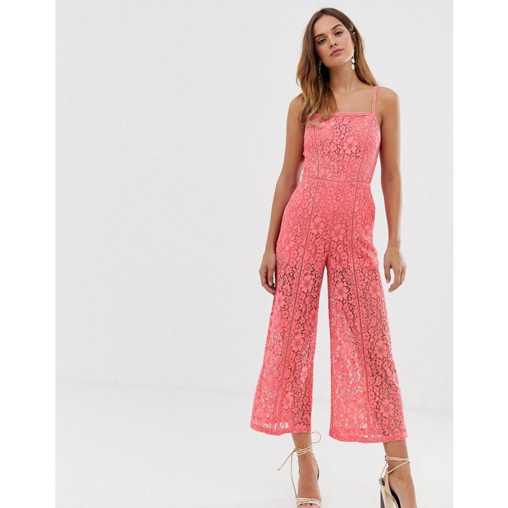 フレンチコネクション French Connection レディース ワンピース・ドレス オールインワン【Helenie lace jumpsuit】Pink whip