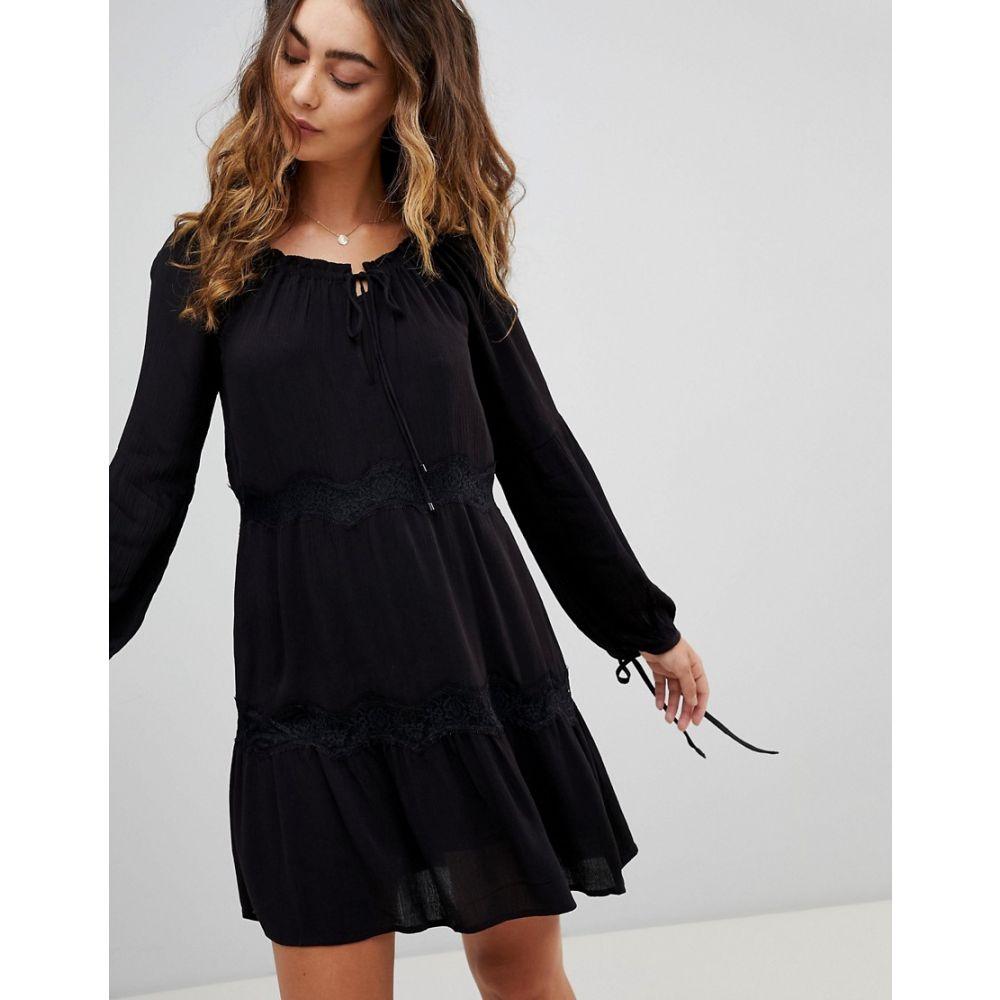 ペペジーンズ Pepe Jeans レディース ワンピース・ドレス ワンピース【Ander Tie Sleeve Dress】Black
