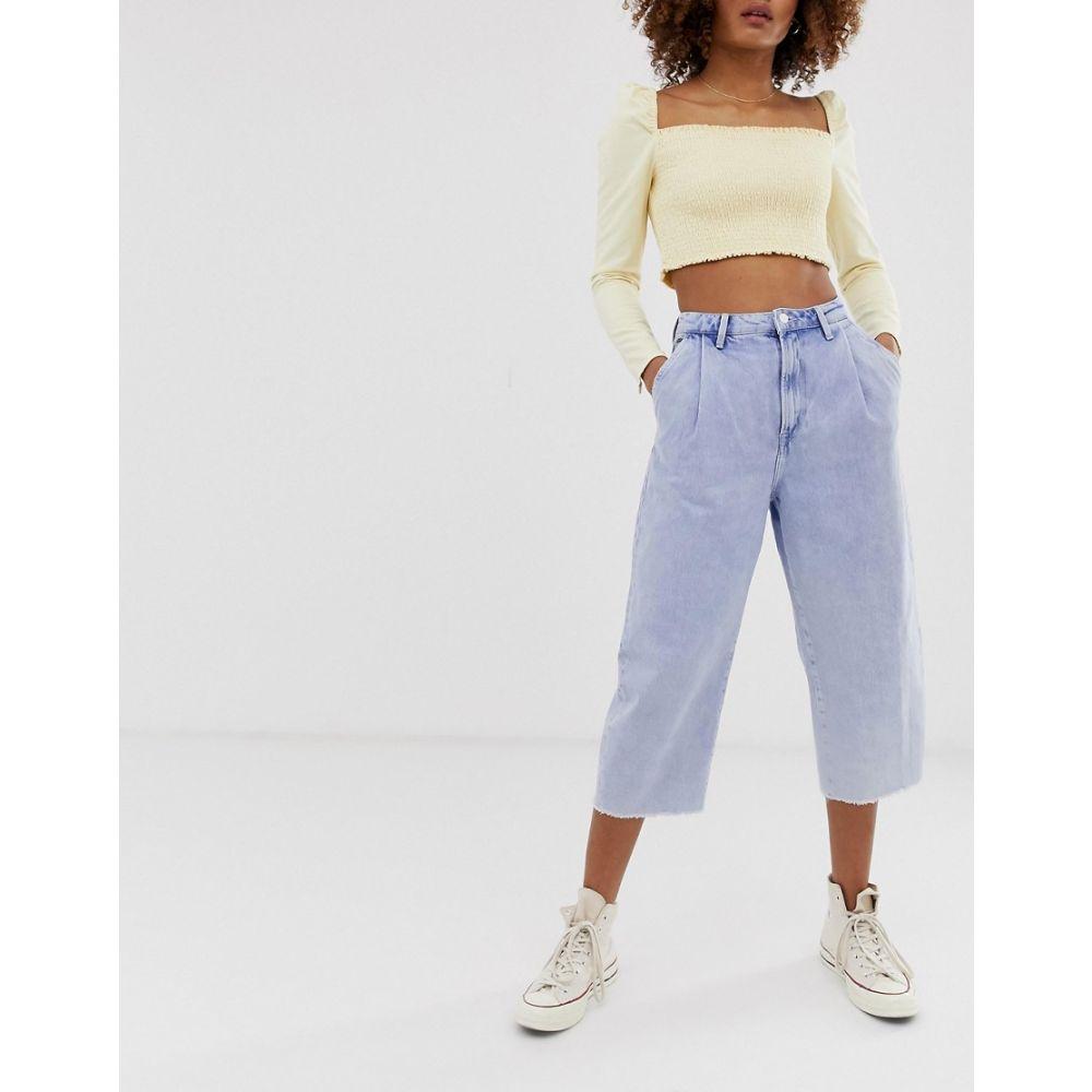 ペペジーンズ Pepe Jeans レディース ボトムス・パンツ ジーンズ・デニム【Aurora raw hem mom jeans】bleached out den