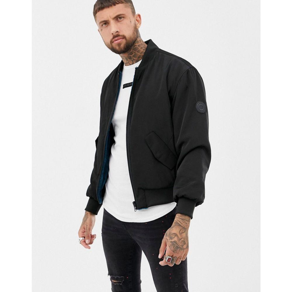 レリジョン Religion メンズ アウター ブルゾン【reversible faux fur bomber jacket】Black
