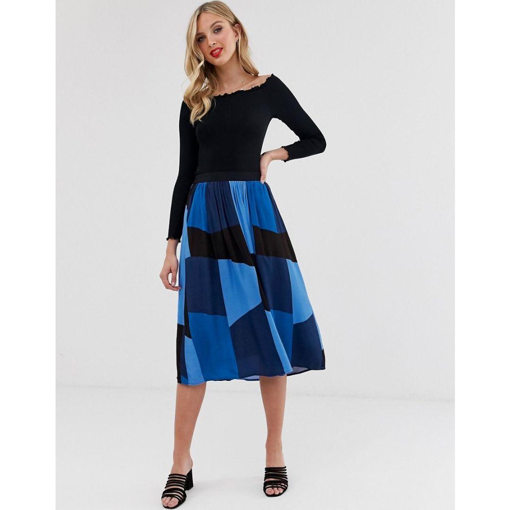 ヴェロモーダ Vero Moda レディース スカート ひざ丈スカート【colour block midi skirt】Blue