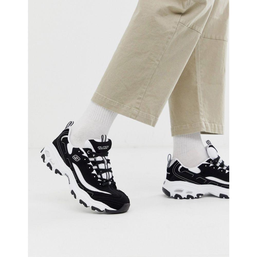 スケッチャーズ Skechers メンズ シューズ・靴 スニーカー【D'lites chunky trainers in black white】Black