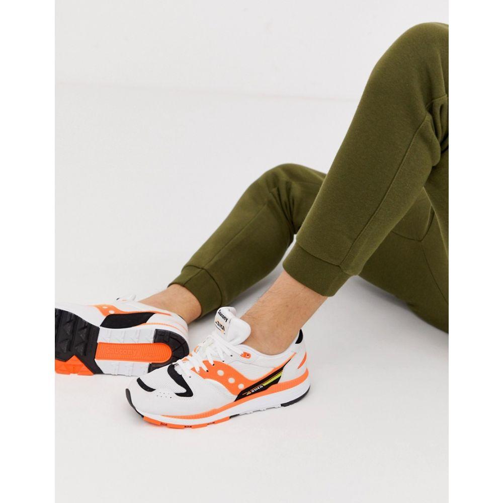 サッカニー Saucony メンズ シューズ・靴 スニーカー【Azura OG Trainers in white / orange】White