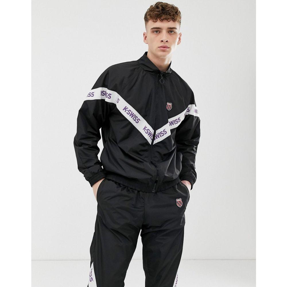 ケースイス K-Swiss メンズ アウター ジャージ【Westmont track jacket with taping in black】Black