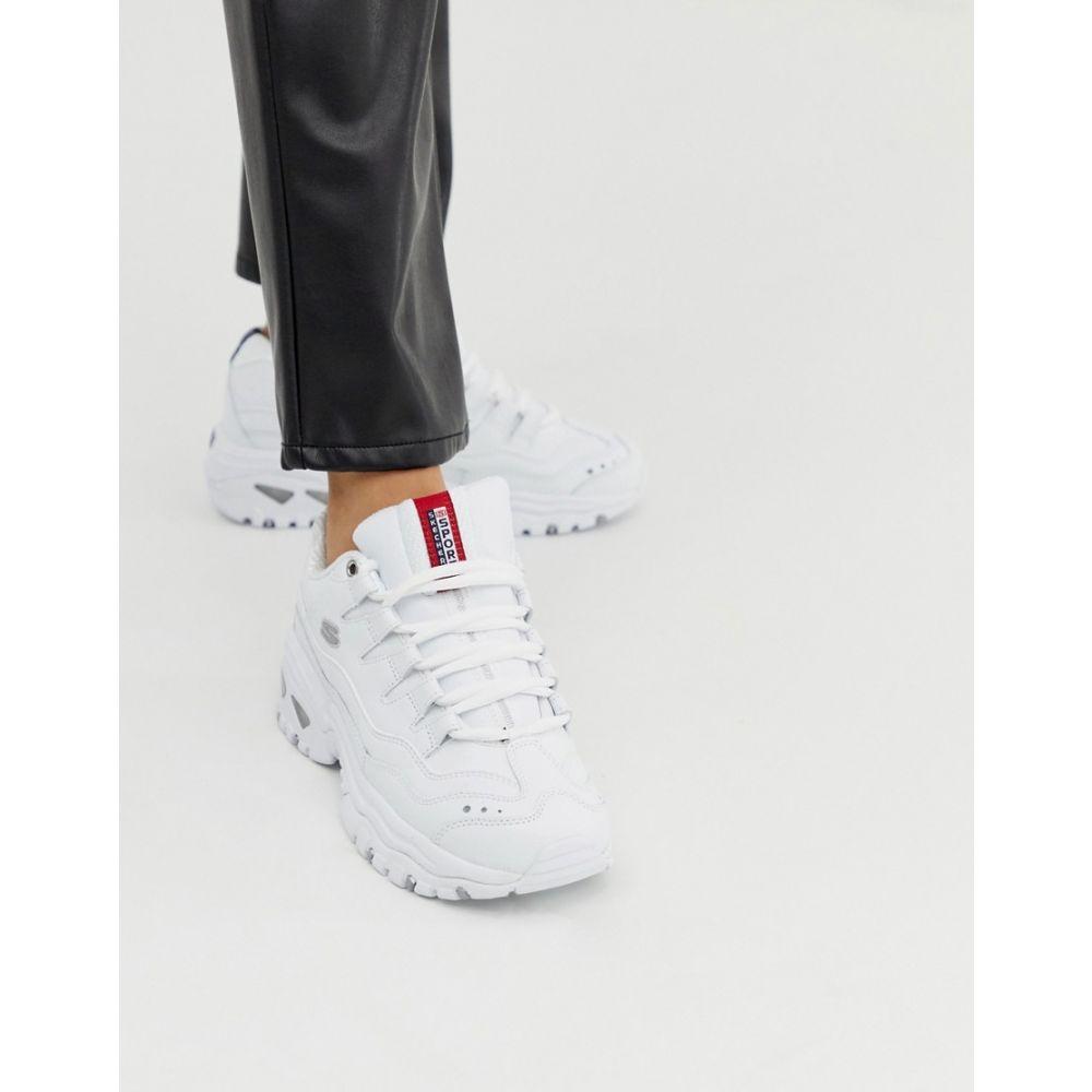 スケッチャーズ Skechers レディース シューズ・靴 スニーカー【Energy trainers in white】Wml - white smooth l