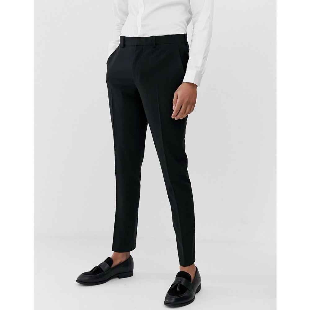 エイソス ASOS DESIGN メンズ ボトムス・パンツ スラックス【super skinny suit trousers in black】Black