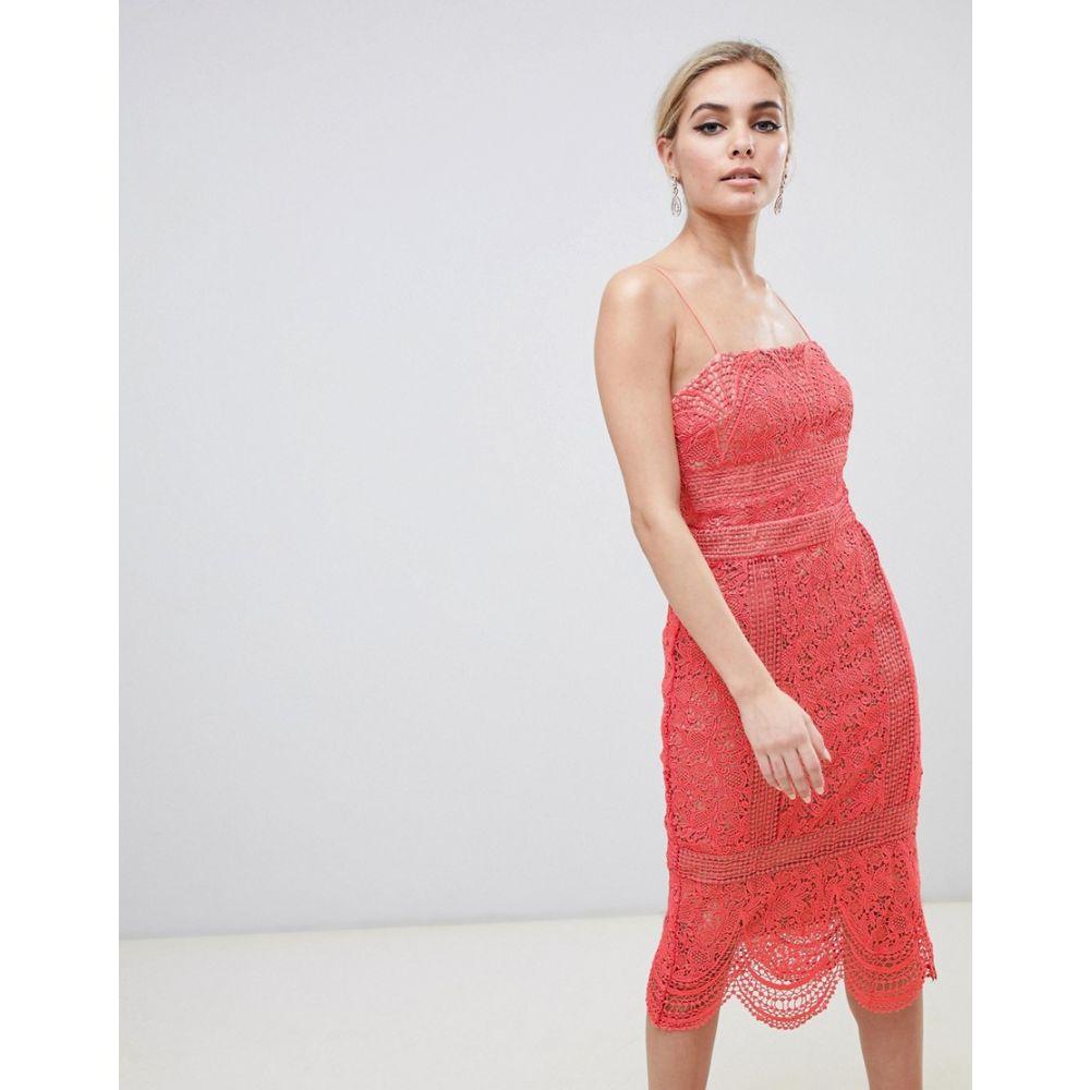 スタイルストーカー Stylestalker レディース ワンピース・ドレス ワンピース【Amelie Lace Pencil Dress】Melon